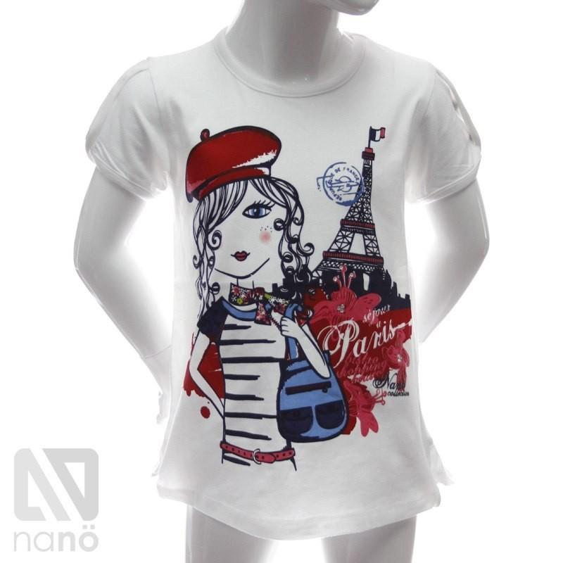 Купить белую футболку для девочки мода лето 2017 брюки женские