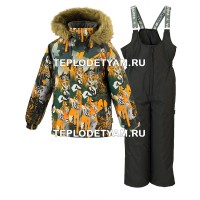 Костюм для мальчика Huppa (арт. 41480030-82822 Winter, orange patterrn black)