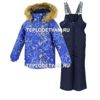 Костюм для ребенка Huppa (арт. 41480030-83435 Winter, blue pattern navy)